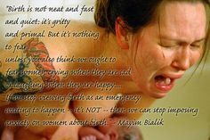 Great quote about childbirth by Mayim Bialik