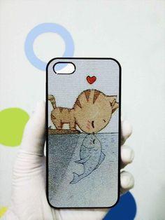 cat Heart Fish iphone 4/4s case