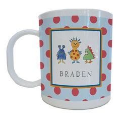 Kids Tabletop Mug Design: Monster Madness   - Click image twice for more info - See a larger selection of baby solid feeding at http://zbabybaby.com/category/baby-categories/baby-feeding/baby-solid-feeding/  - gift ideas, baby , baby shower gift ideas, toddler  « zBabyBaby.com