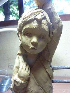 Sculptures Anne-Laure Pérès Anne Laure, Art Sculpture, Clay Dolls, Face And Body, Namaste, Sculpting, Bronze, Pottery, Portrait