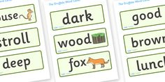 Twinkl Resources >> The Gruffalo Word Cards  >> Thousands of printable primary teaching resources for EYFS, KS1, KS2 and beyond! The Gruffalo, resources, mouse, fox, owl, snake, Gruffalo, fantasy, rhyme, story, story books, story book resources, story sequencing, story resources, word cards, word card, flashcard, flashcards, word cards,