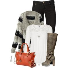 A fashion look from November 2014 featuring lace top, black coat and black jeans. Browse and shop related looks.