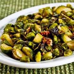 Colorful and tasty, this Brussels Sprout recipe will change your mind about them. They are so good for you with plenty of that hard to get Vitamin K. This recipe is also low glycemic so it won't turn right into sugar once you eat it.