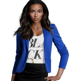 Colored Blazers! I ADORE this Blue! I'd probably be a size 10-12, since their sizes seem to run small