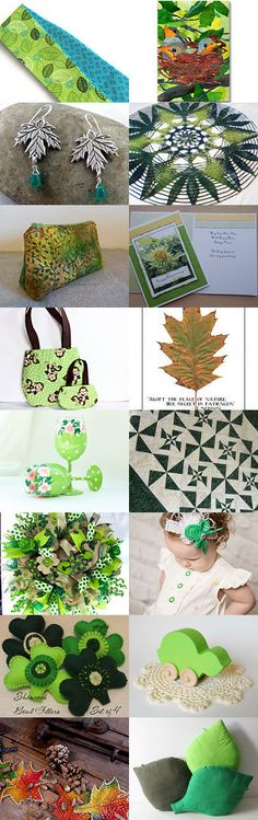 I See Leaves of Green by the Celebration Times Team by Virginia Soskin on Etsy--Pinned with TreasuryPin.com