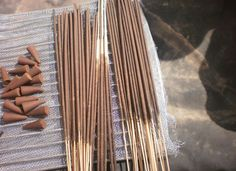 How to Make Incense Sticks using Fragrance Oil - Small Batch — Recipes & Tutorials Crafting Library How To Make Incense, Just In Case, Just For You, Wiccan Crafts, Smudge Sticks, Incense Sticks, Incense Cones, Kitchen Witch, Perfume