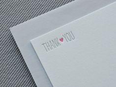 heart letterpress thank you cards  new by dearlolaletterpress, $12.00