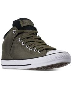 Converse Men's Chuck Taylor All Star High Street Casual Sneakers from Finish Line - Green 11 Green Sneakers, Sneakers Mode, Best Sneakers, Casual Sneakers, Sneakers Fashion, Casual Shoes, Fashion Shoes, Girl Fashion, Men Casual
