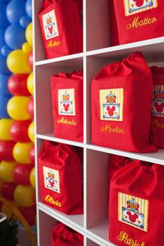 Favor Bags from a Mickey Mouse Circus Birthday Party via Kara's Party Ideas KarasPartyIdeas.com (14)