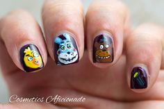 Can you believe it? Five Nights at Freddy's nail art!