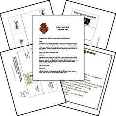 FREE Ancient Egypt Unit Study and Lapbook