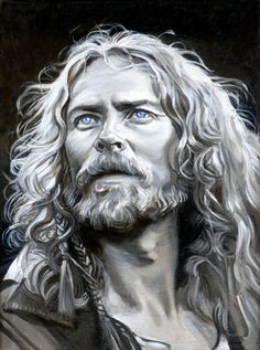 For podcaster Patrick Hester, because I, too, love this movie... Portrait of Herger from The 13th Warrior :)