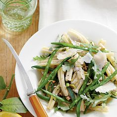 Green Bean Pasta Salad with Lemon-Thyme Vinaigrette | MyRecipes.com