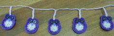 Crochet Owl Garland Handmade at Oople Eumundi