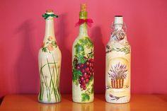 decoupage / bottle  butelki.jpg (800×533)