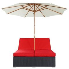 Modway Furniture Arrival Outdoor Patio Chaise - Espresso Red By (4,940 CNY) ❤ liked on Polyvore featuring home, outdoors, patio furniture, outdoor loungers & day beds, outdoor furniture, patio lounger, adjustable chaise lounge, patio chaise and outdoor patio furniture