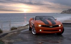 chevrolet camaro convertible beach