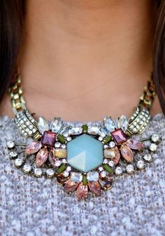 I know this type of necklace is really popular right now but this one is a little different and i like the colors.