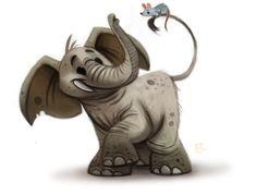 Daily Paint #630 - Elephant by Cryptid-Creations Find more artworks: www.pinterest.com/aalishev/pins
