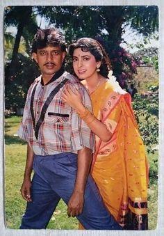 Madhuri Dixit Young, Juhi Chawla, Beautiful Indian Actress, Cartoon Art, Indian Actresses, Bollywood, Sari, Girls, Fashion