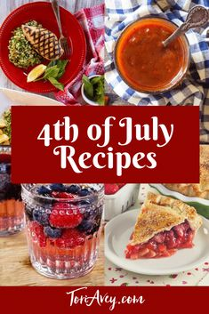 Recipes for 4th of July - Recipes to inspire your Independence Day menu. Includes entrees, drinks, sides, appetizers, and desserts. | ToriAvey.com #redwhiteandblue #independenceday #4thofJuly #barbecue #grilling #TorisKitchen 4th July Food, Fourth Of July, Independence Day Holiday, Tasty, Yummy Food, Recipe For 4, Barbecue, Entrees, Special Occasion