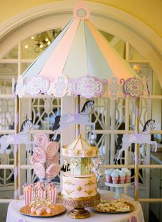 A most dreamy birthday party theme inspired by carousels.