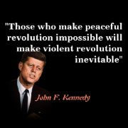 John F Kennedy Quote On Peaceful Revolution Poster Zazzle Com