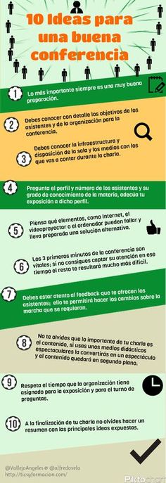 10 ideas para una buena conferencia #infografia
