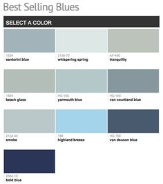 Best selling & popular shades of blue paint colors from Benjamin Moore.