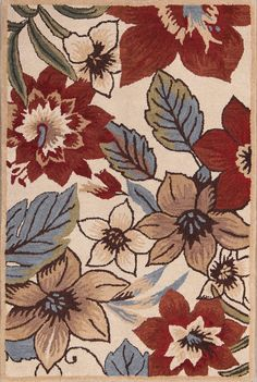Transitional Floral 4x6 5x8 Oushak Oriental Area Rug