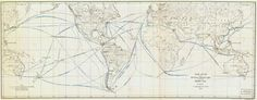 Trade Routes and Distances by Existing Lines and by the Panama Canal