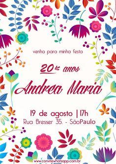 Convite de Aniversário Whatsapp Andrea Maria | Convite Zap Zap