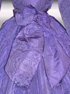 1860's civil war era purple French visiting dress with crinoline (bow detail at back) | eBay