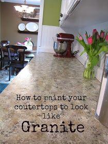 The Modest Homestead: Kitchen Update: Faux Granite Countertops