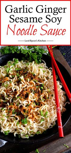 A complete dinner, from start to finish, in less than 15 minutes - yes, it's possible! Garlic Ginger Sesame Soy Noodle Sauce is all the proof you need! Lord Byron, Soy Ginger Sauce, Recipes With Soy Sauce, Vegetarian Recipes, Cooking Recipes, Savoury Recipes, Healthy Recipes, Tasty Pancakes, Teriyaki Sauce