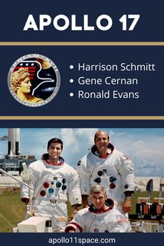 """Apollo 17 Moon mission took Eugene Andrew Cernan and Harrison Hagan """"Jack"""" Schmitt to the lunar surface and marked the Apollo program's end. Read on. #Apollo17 Moon Missions, Apollo Missions, Nasa Rocket Launch, Apolo Xi, Apollo Space Program, The Final Frontier, Space Shuttle, Space Exploration, Science And Nature"""