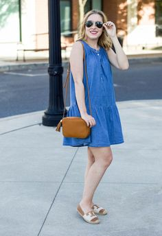 This LOFT chambray dress with a drop waist is a repeat offender in my closet!