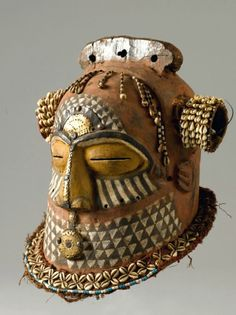 Africa | Mask from the Kuba people of the Democratic Republic of Congo