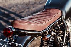 Salty Speed CB400, nice leatherwork