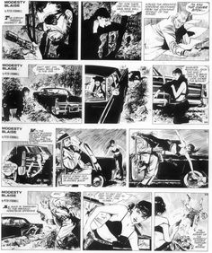 Modesty Blaise created by writer Peter O'Donnel and artist Jim Holdaway