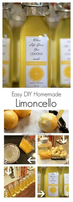 Limoncello I can't believe how simple it really is! I can't believe how simple it really is! Cocktail Drinks, Fun Drinks, Yummy Drinks, Cocktail Recipes, Alcoholic Drinks, Beverages, Cocktails, Homemade Limoncello, Limoncello Recipe Vodka
