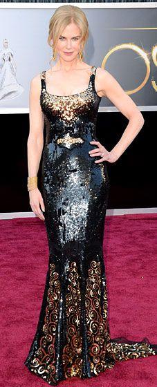 Nicole Kidman at the 2013 Oscars wearing L'Wren Scott dress, shoes and bag