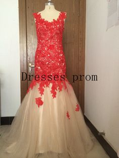 Long prom dress 2014 Lace prom dress / Lace evening by Dressesprom
