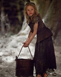 Isabelle Allen as young Cosette in Les Misérables Cosette Les Miserables, Les Miserables 2012, Jean Valjean, Theatre Costumes, Musical Theatre, Portsmouth, Story Inspiration, Character Inspiration, Character Ideas