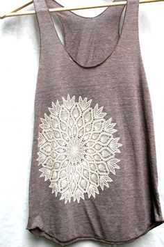 LOVE! Racerback Tank - Tri Blend Cotton, Hand printed, Lace Tank, Adult Women, Lace Doily Print