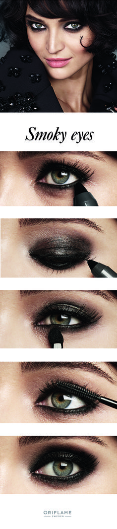 Here's your five-step guide to smoky eyes.