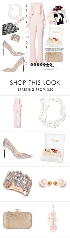 """""""jumpsuit...."""" by csfshawn on Polyvore featuring Christian Siriano, Tiffany & Co., Jimmy Choo, Alexander McQueen, Chloé, Effy Jewelry, XISSJEWELLERY and Christian Louboutin"""