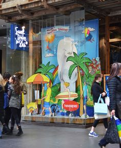 Havaianas Window Display at Surf Dive n Ski, Bourke St Mall, Melbourne