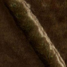 Luxury Faux Fur Beaver Brown/Olive fabric.com