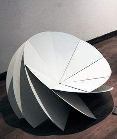 Bloom Chair: a chair created from eight folded steel plates | Eerang Park